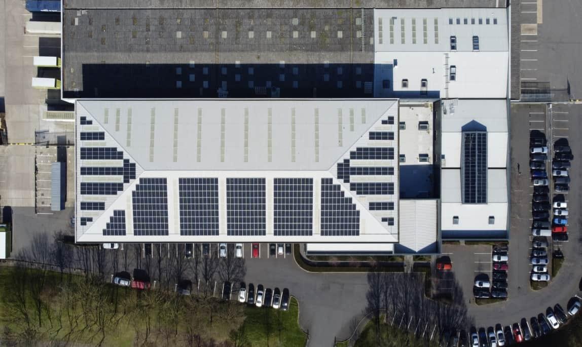 Commerical solar panel installation on Neptune NQ